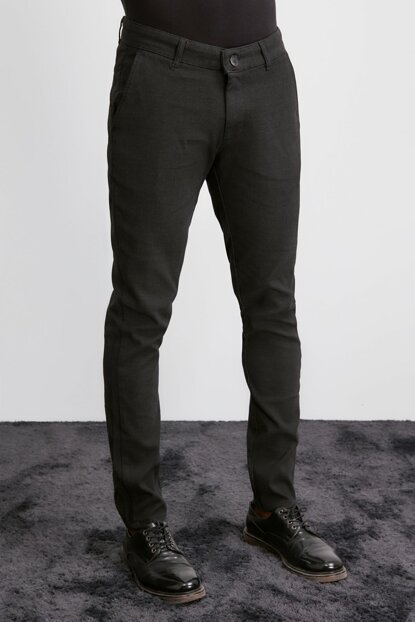 Black Men Slim Pants TMNAW20PL0642