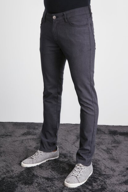 Navy Blue Men Slim Trousers TMNAW20PL0643