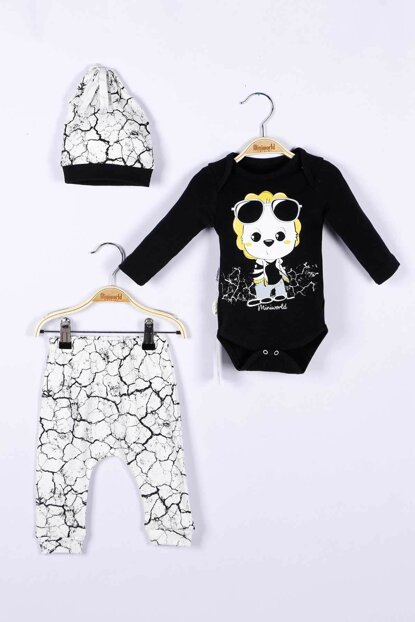 Baby Boy Badi Trousers Hat 3-Piece Set 14804 MINI14804