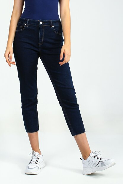 Women's Dark Blue Trousers Mefik UCB021687A57