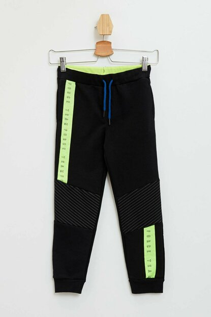 Slim Fit Knee Cut Trousers With Ribbon Detailed L9961A6.19WN.BK27