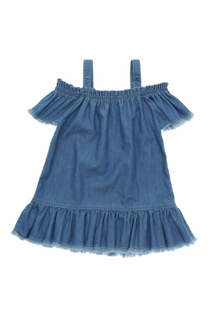 Blue Girls' Casual Dress 19126266100