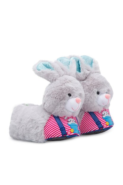 Gray Unisex Children Animal Slipper NN0533