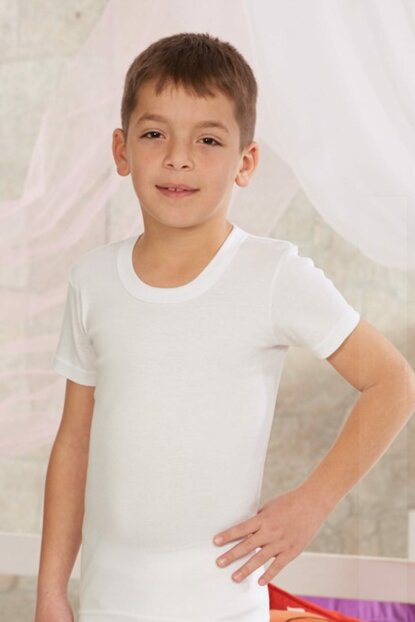 Boys' White 3-Piece Short Sleeve Tank Top 7004N