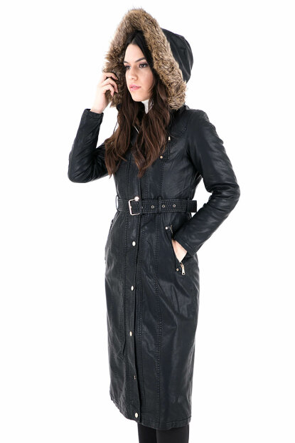 Women's Black Coat Marta19 MARTA19