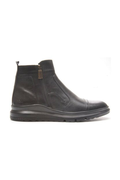 Genuine Leather Black Floter Men Boots TR_BUL-200053