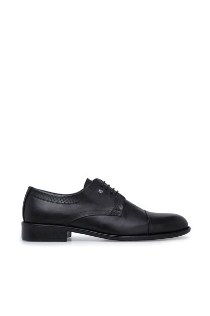 Genuine Leather Black Men Shoes 153400982