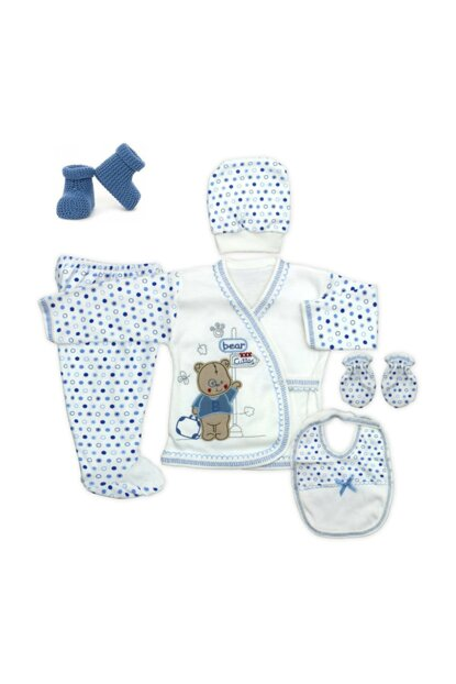 Blue Teddy Bear Newborn Baby 5 Li Hospital Outlet Set a417