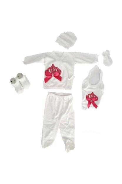 100% Cotton 6-Piece Baby Girl Hospital Outlet Newborn Layette Set a418