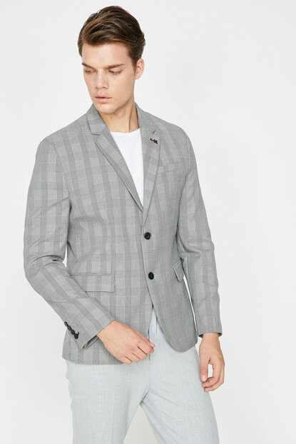 Men's Gray Coat 8YAM51265NW