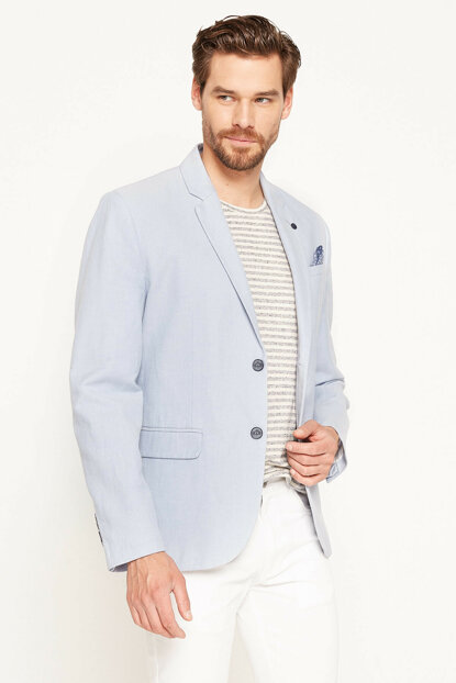 Men's Blue Coat 7YAM59567KW