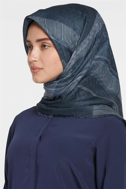Women's Black Gray Cotton Scarf Sapphire-SP-18Y-10770-0104