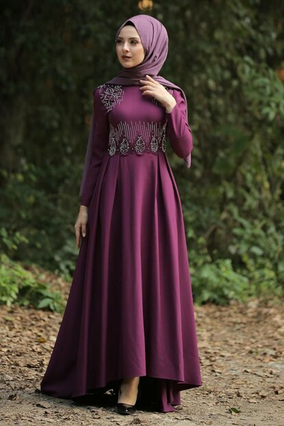 Women's Plum Evening Dress TSD9651