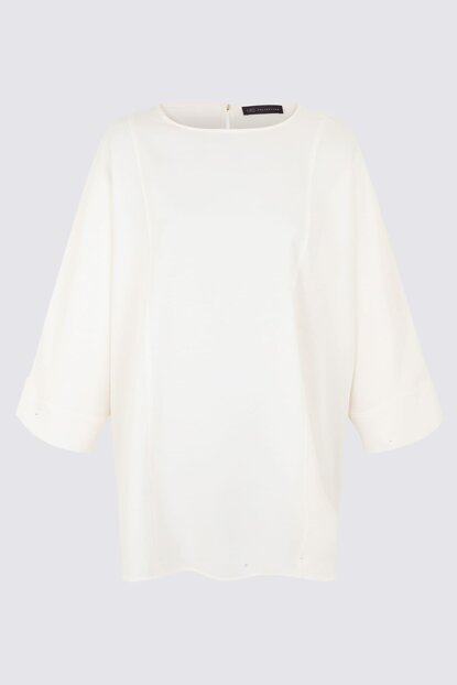 Women White Long Tunic T43009001X
