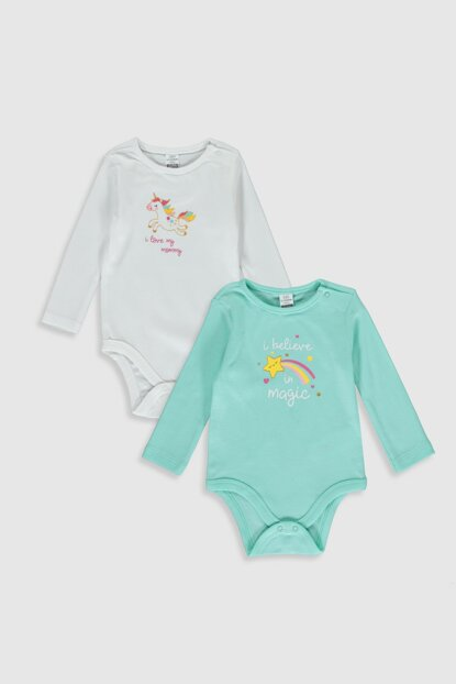 Baby Girl Light Green Fyk Snap-on Body 2PCS 9WK309Z1
