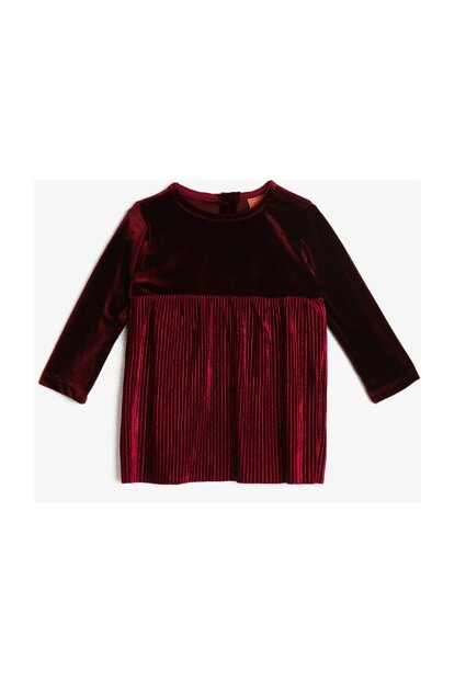 Burgundy Baby Girl Dress 0KMG89922ZK