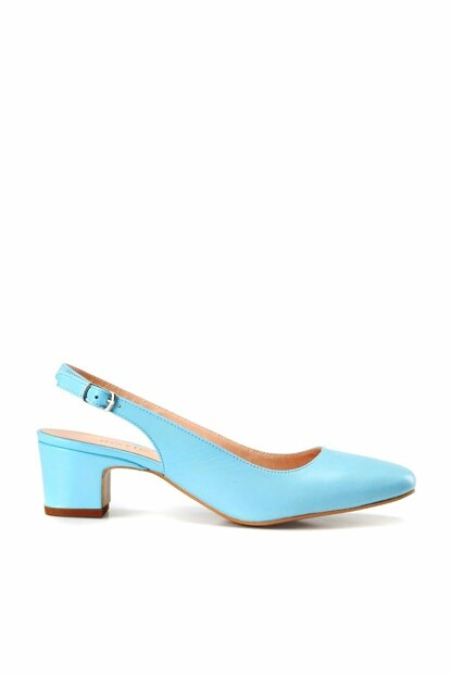 Genuine Leather Blue Women Shoes 01AYH137120A620