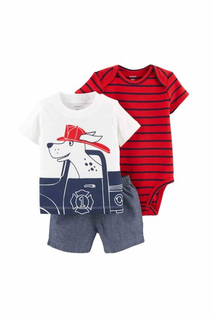 Red Baby Boy Set of 3 - DCS 16650310