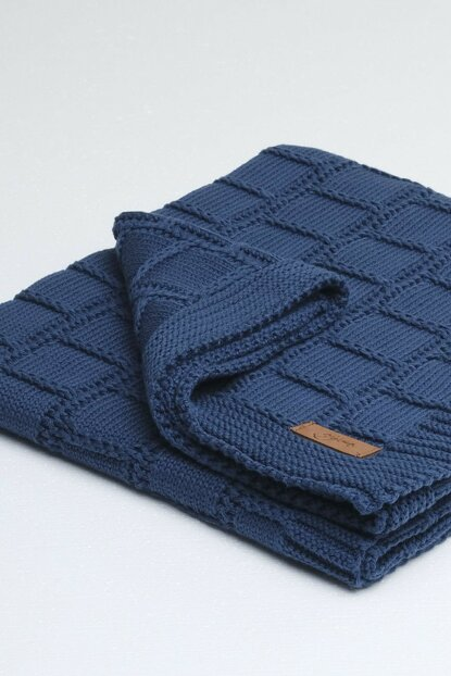 Can Baby Blanket Navy Blue 90X90 8682132050126