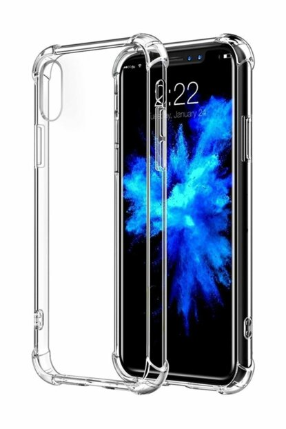 Rich Shop Apple iPhone X - XS Ultra Thin Transparent Airbag Anti Shock Silicone Case - Transparent X-XS TRANSPARENT