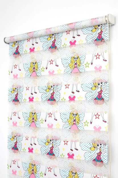 Zebra Curtain 120X200 Fairy Daughter Pink Children Room Roller Blinds 001PRK-01-120X200