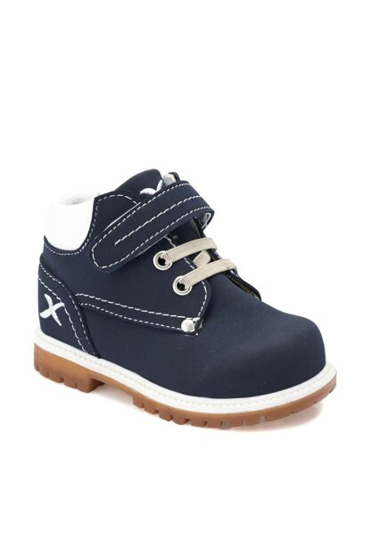 Navy Blue Boys Worker Boots 000000000100264328
