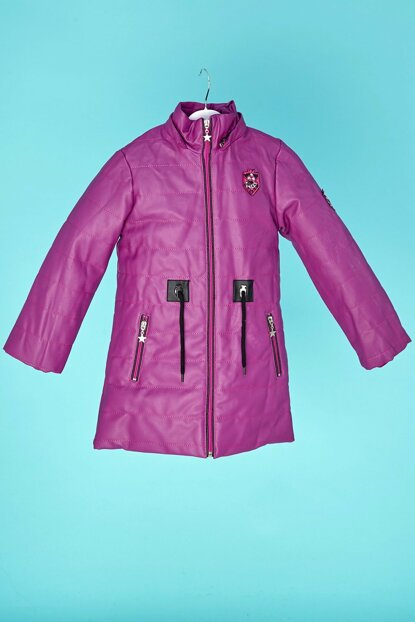 Children Plush Lined Hooded Fuchsia Coats 20KCCK4528124435
