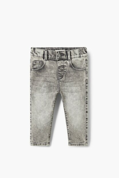 Gray Denim Baby Pants 33940697