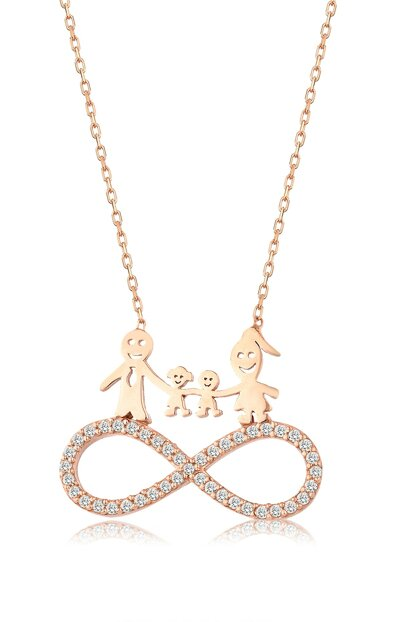 Women's 925 Infinity Family Necklace MA_KL_1393