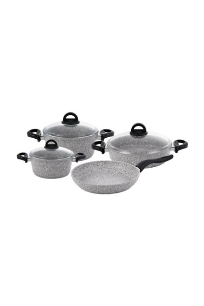 Premium Granite 7 Piece Cookware Set Gray gray