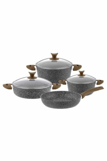 7 Piece Legend Granite Cookware Set - Gray CLMN10237