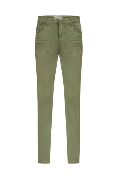 Men's Khaki Slim Fit Cotton Trousers 349260