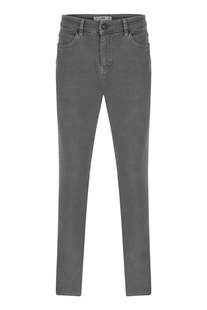 Men's Khaki Slim Cotton Trousers 352729