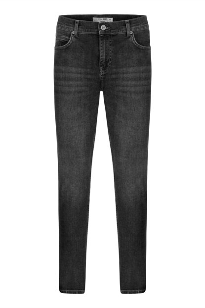 Men's Gray Cotton Super Slim Denim Trousers 352687
