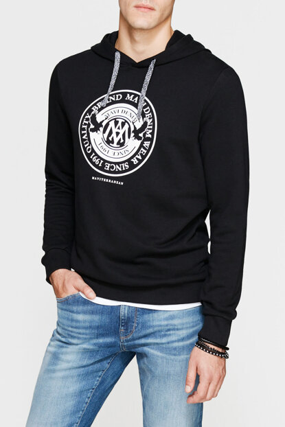 Men's Black Sweatshirt with Logo 065169-900
