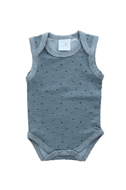 Striped Sleeveless Baby Snaps Body UYGBB00331