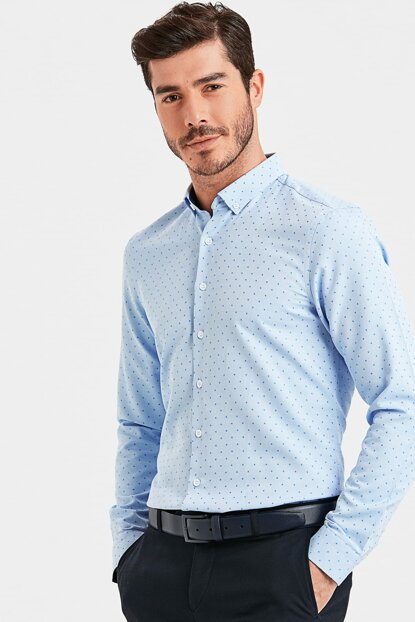 Men's Blue Shirt 8WL687Z8
