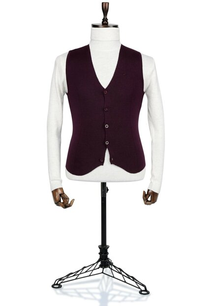 Pool 14101 Burgundy Men's Vest - 4B8K29STD183