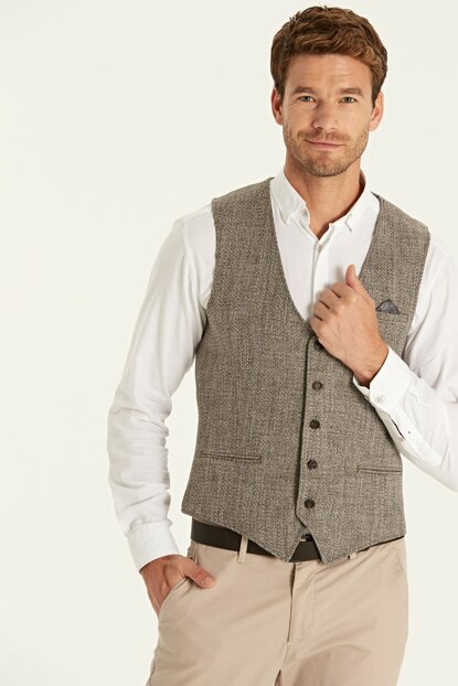 Men's Coffee Melange Vest 9W6151Z8
