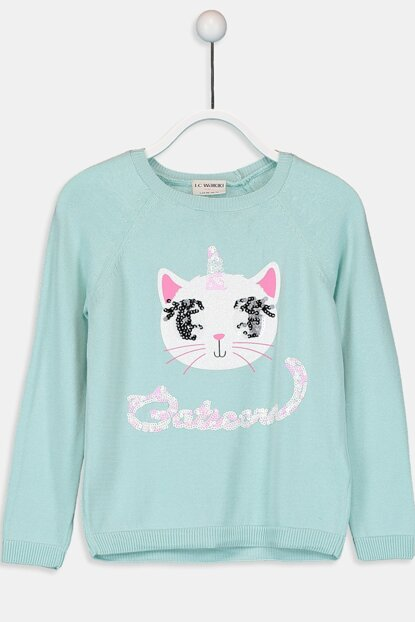 Girl's Mint Green J1R Sweater 9W1598Z4