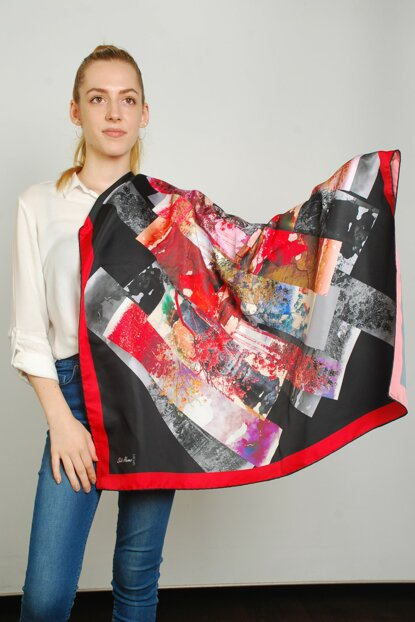 Women Multi Color Sport Polyester Scarf 9351413
