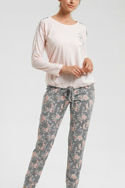 Women's Pink Mines Sports Pajama Set SH20480660A880