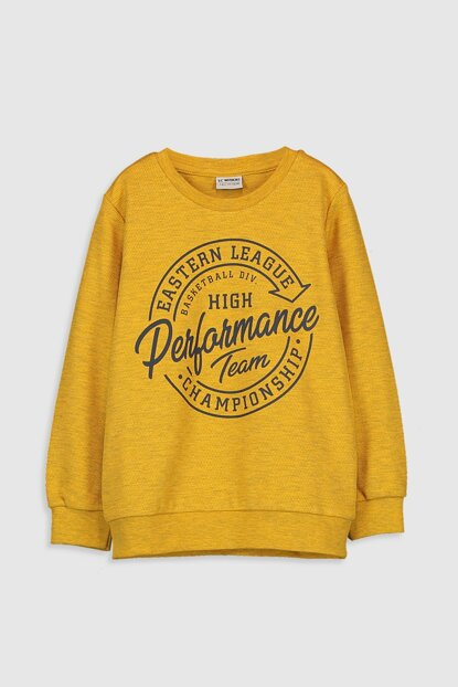 Boys' Yellow Melange Ldt T-shirt 9W8786Z4