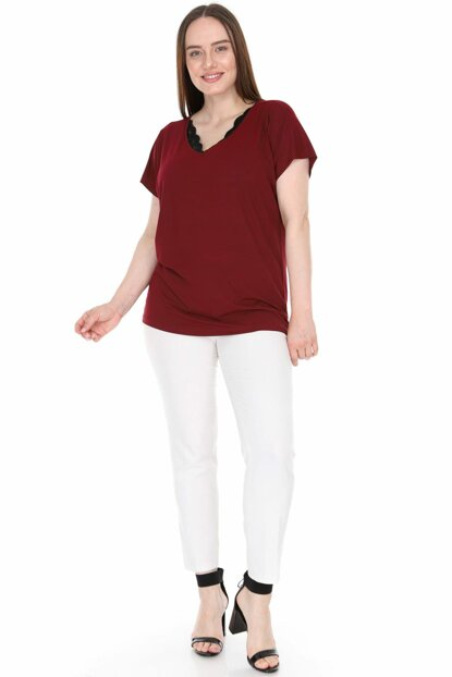 Women's Burgundy Blouse 2299