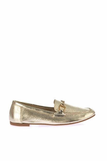 Genuine Leather Gold Women Flats 120130006541