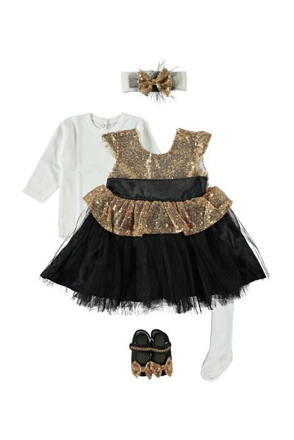 Sequin, Tutu 5s Baby Girl Dress Set Gold PA347