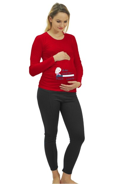 Maternity Baby Loading T-shirt Long Sleeve 3135Kmz