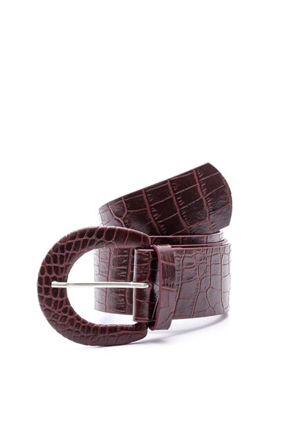 Alligator Leather Belt Buckle with Leather Buckle K-AW19039