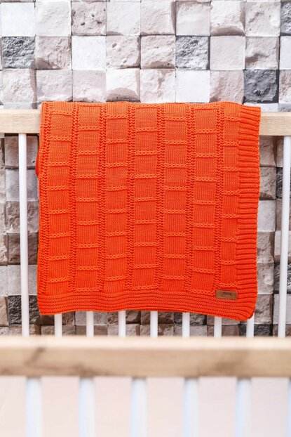 Can Baby Blanket Orange 90X90 8682132050102