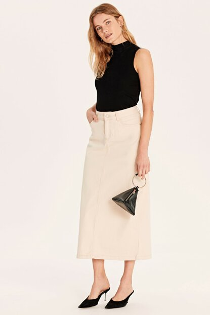 Women's Beige Skirt 9SA298Z8